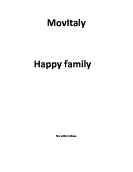 AP Italian: MovieItaly, Happy Family
