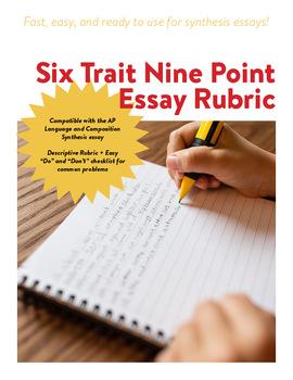 AP Language 6 Trait 9 Point Rubric - Synthesis