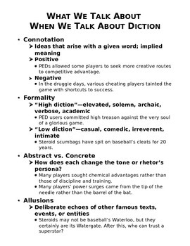AP Language Diction & Syntax Reference Sheet