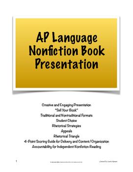 "AP Lang Independent Nonfiction Book Presentation; ""Sell Yo"