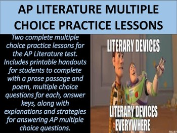AP Literature Multiple Choice Practice