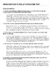 AP Literature Test Prep Introduction