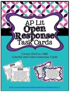 AP Literature and Composition Open Response Task Cards