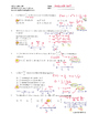 AP Multiple Choice Worksheet: First Derivative