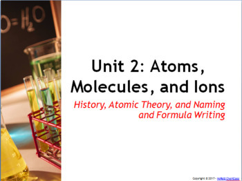 AP Power Point: History of the Atomic Structure, Naming, a