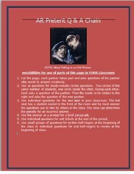 AR Preterit Chain Questions