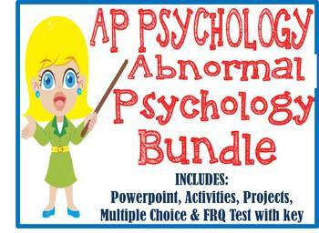 AP Psychology Abnormal Disorders Unit BUNDLE PowerPoint Ac