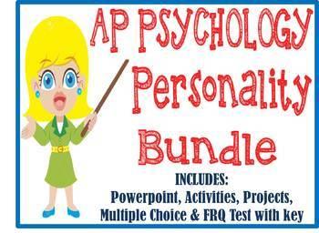 AP Psychology Personality Unit BUNDLE PowerPoint, Activiti