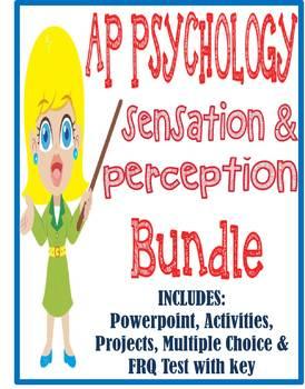 AP Psychology Sensation & Perception unit BUNDLE Powerpoin
