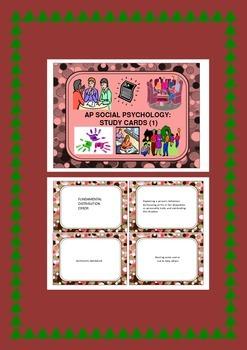 Social Psychology: Student Worksheet, Study Cards & Class