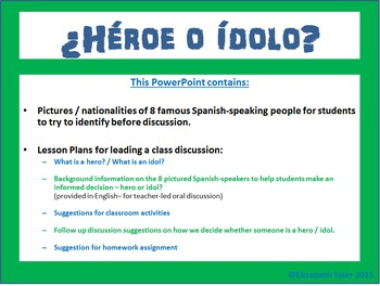 AP Spanish - Hero vs. Idol