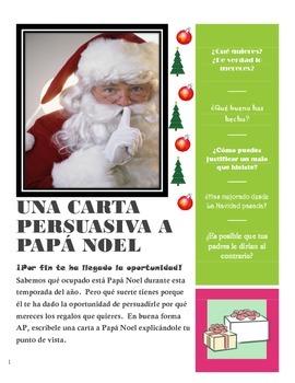 AP Spanish Persuasive Letter to Santa