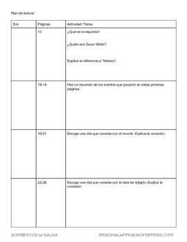 AP Spanish Plan De Lectura: El alquimista pág 1-41