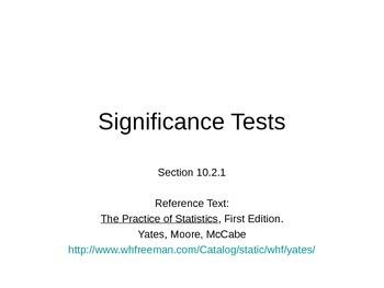 AP Statistics 10.2.1: Significance Tests