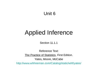AP Statistics 11.1.1: Applied Inference