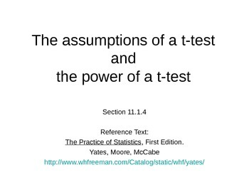 AP Statistics 11.1.4: The assumptions of a t-test and th