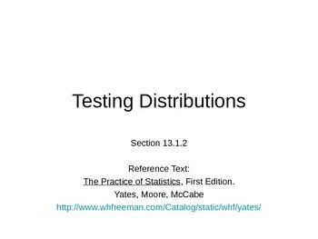 AP Statistics 13.1.2: Testing Distributions