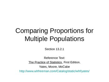 AP Statistics 13.2.1: Comparing Proportions for Multiple P