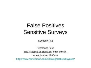 AP Statistics 06.3.2: False Positives and Sensitive Surveys