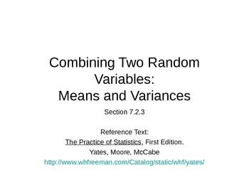 AP Statistics 07.2.3: Combining Two Random Variables: Mea