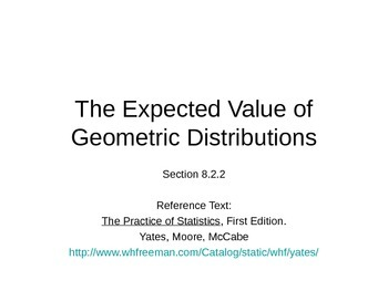 AP Statistics 08.2.2: The Expected Value of Geometric Dist