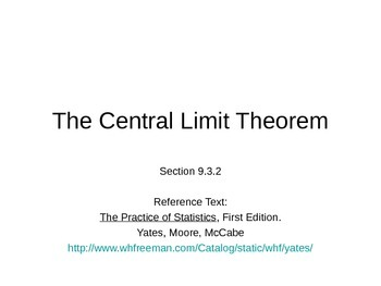 AP Statistics 09.3.2: The Central Limit Theorem
