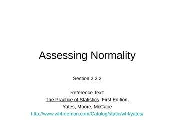 AP Statistics 02.2.2: Assessing Normality