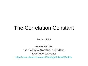AP Statistics 03.2.1: The Correlation Constant