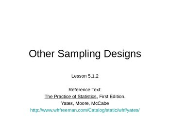 AP Statistics 05.1.2: Other Sampling Designs