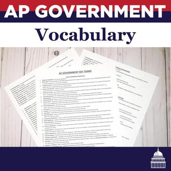AP U.S. Government Vocabulary (organized by unit)