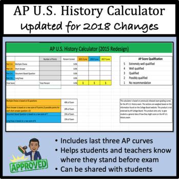 AP U.S. History Calculator - 2015 Redesign Ready!
