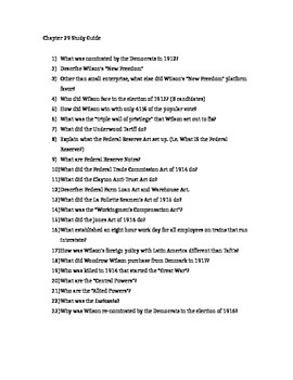 AP US History - Chapter 29 Reading/Study Guides - American