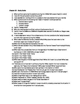 AP US History - Chapter 32 Reading/Study Guides - American