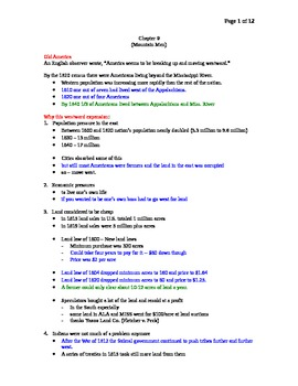 AP US History Lecture Notes #09 (Westward Expansion and Cl