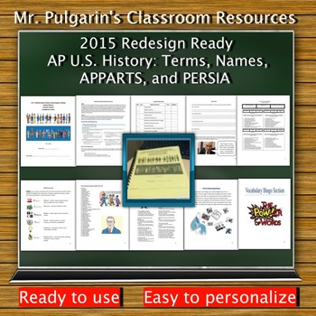 2015 Redesign Updated - AP U.S. History: Terms, Names, APP