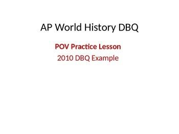 AP World History DBQ POV Practice