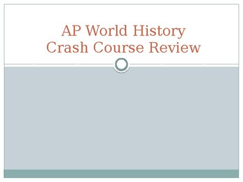 AP World History - Important Terms Review