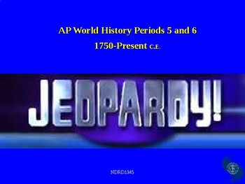 AP World History Periods 5 and 6 Jeopardy Review Game (175