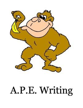 A.P.E. Writing Poster Set