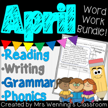 APRIL Lesson Plans, Activities & Word Work!