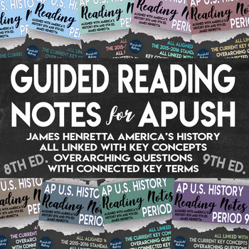 APUSH - Full Year - Guided Reading Worksheets - America's