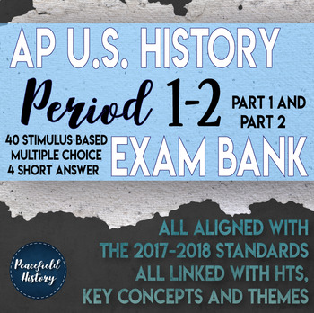 APUSH Period 1 and Period 2 Stimulus Based Multiple Choice