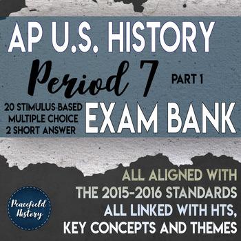APUSH Period 7 Stimulus Based Multiple Choice Part 1 Test Bank