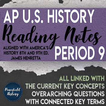 APUSH - Period 9 - Guided Reading Worksheets - America's H