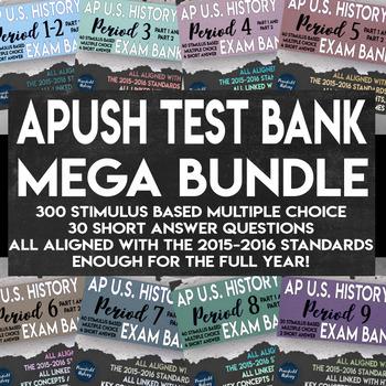 APUSH Stimulus Based Multiple Choice Short Answer Text Ban