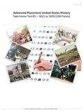 APUSH Take Home Test #3 1815-1850
