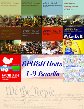 APUSH Units 1-9 Bundle