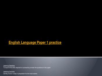 AQA English Language Paper 1 practice - War of the Worlds