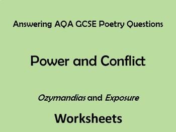 AQA Power and Conflict Poetry Comparing 'Ozymandias' and '