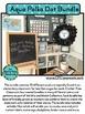 AQUA POLKA DOTS Classroom Decor - EDITABLE Clutter-Free Cl